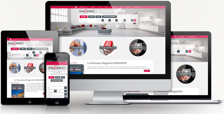 Cr ation site web responsive montpellier site compatible for Architecture site web