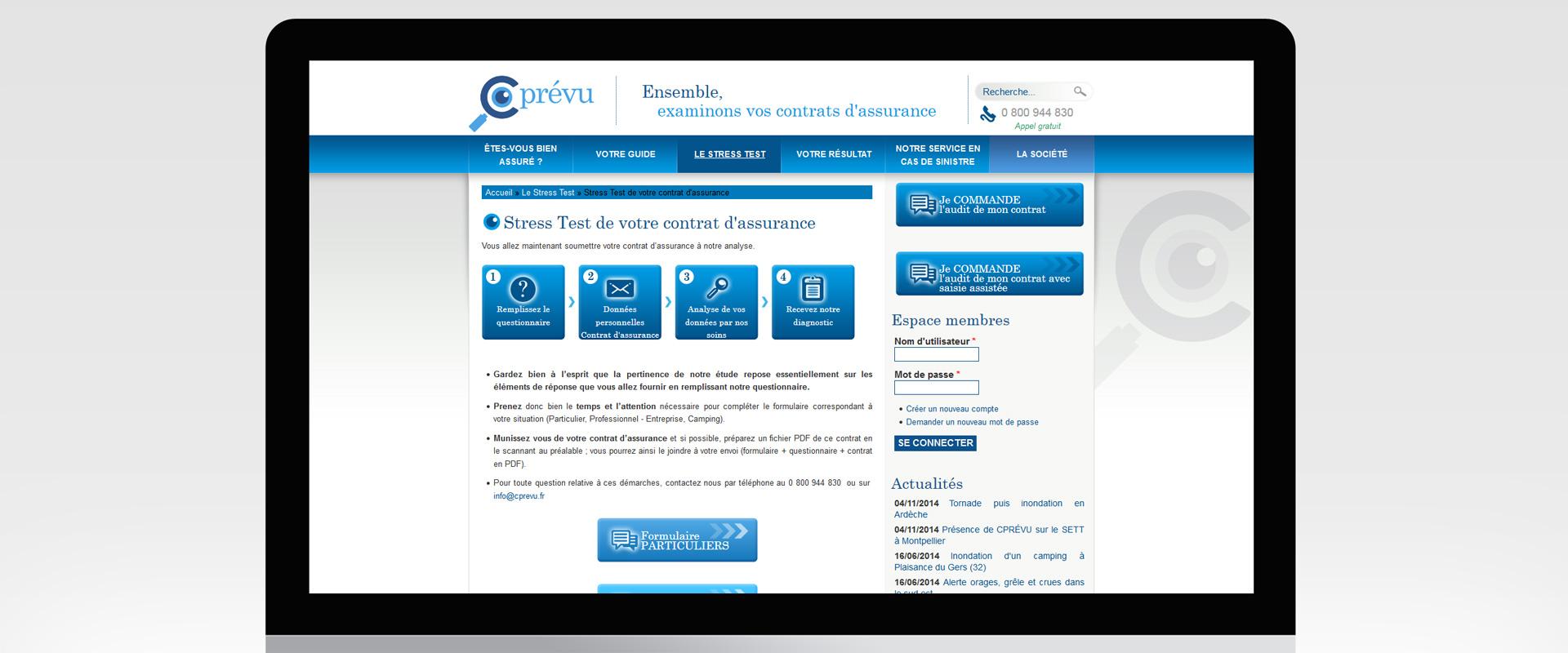 Site internet Cprévu
