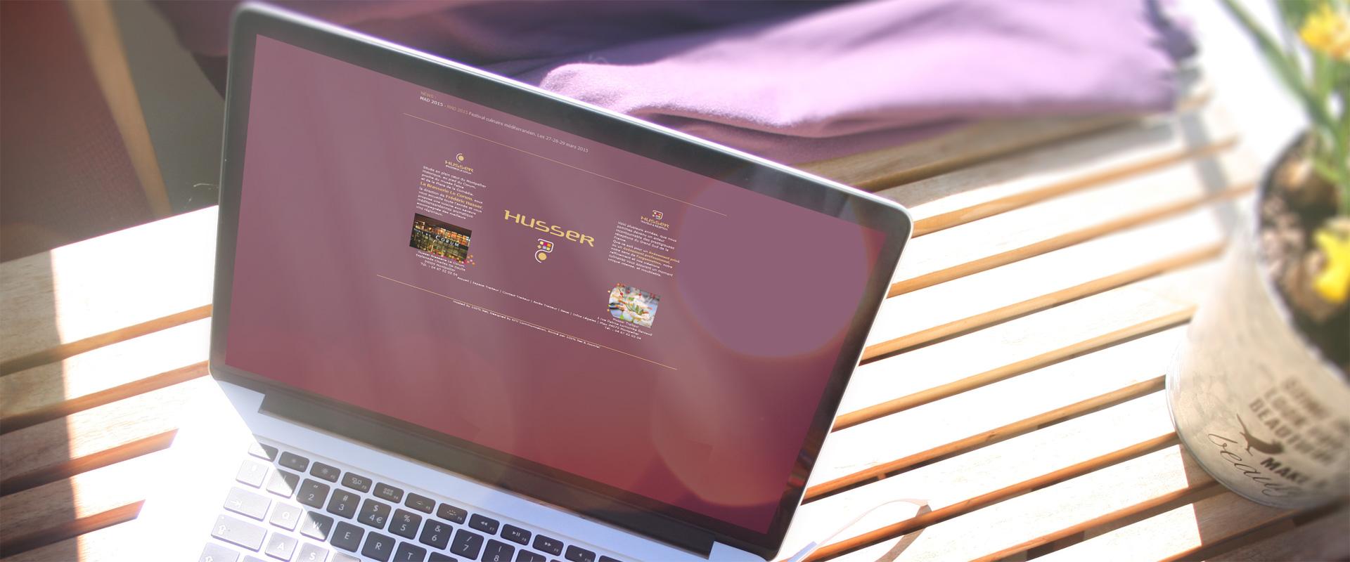 Site internet Husser traiteur Montpellier