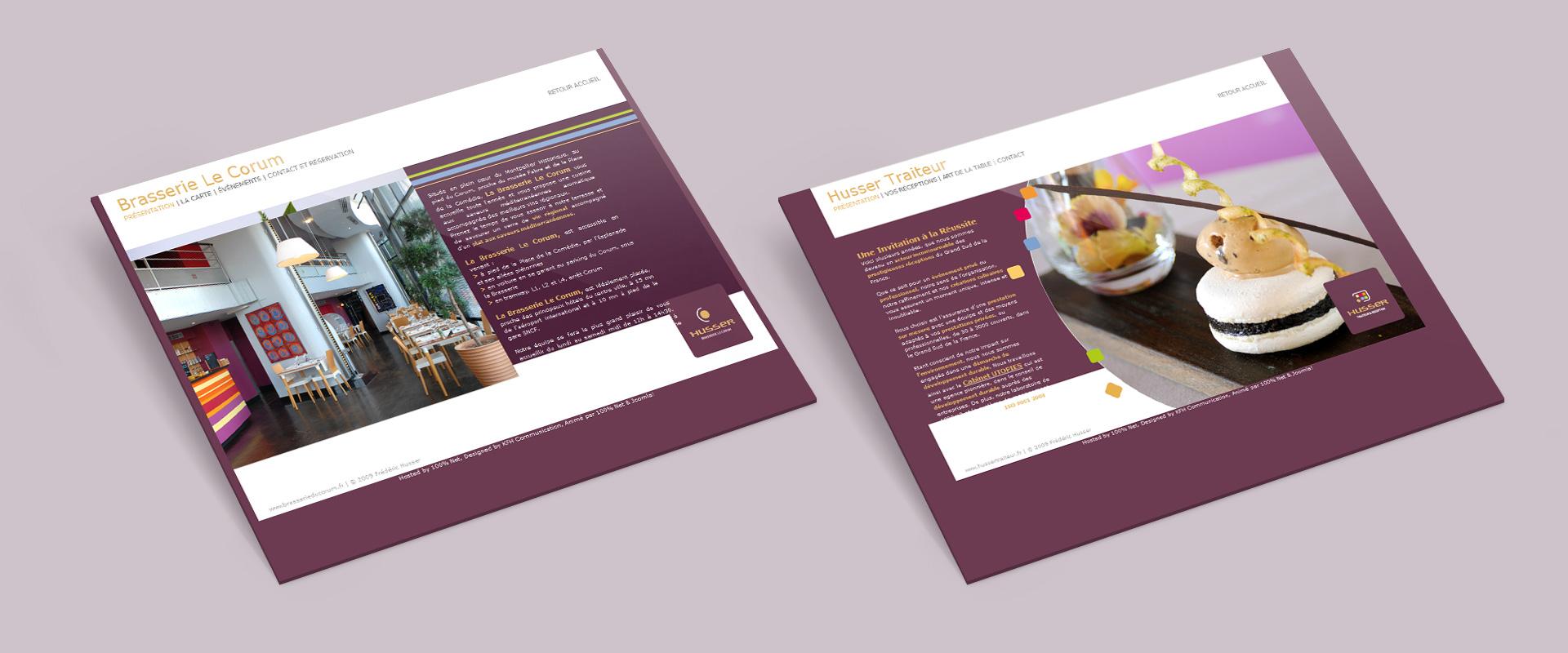 Sites web Brasserie du Corum / Husser traiteur