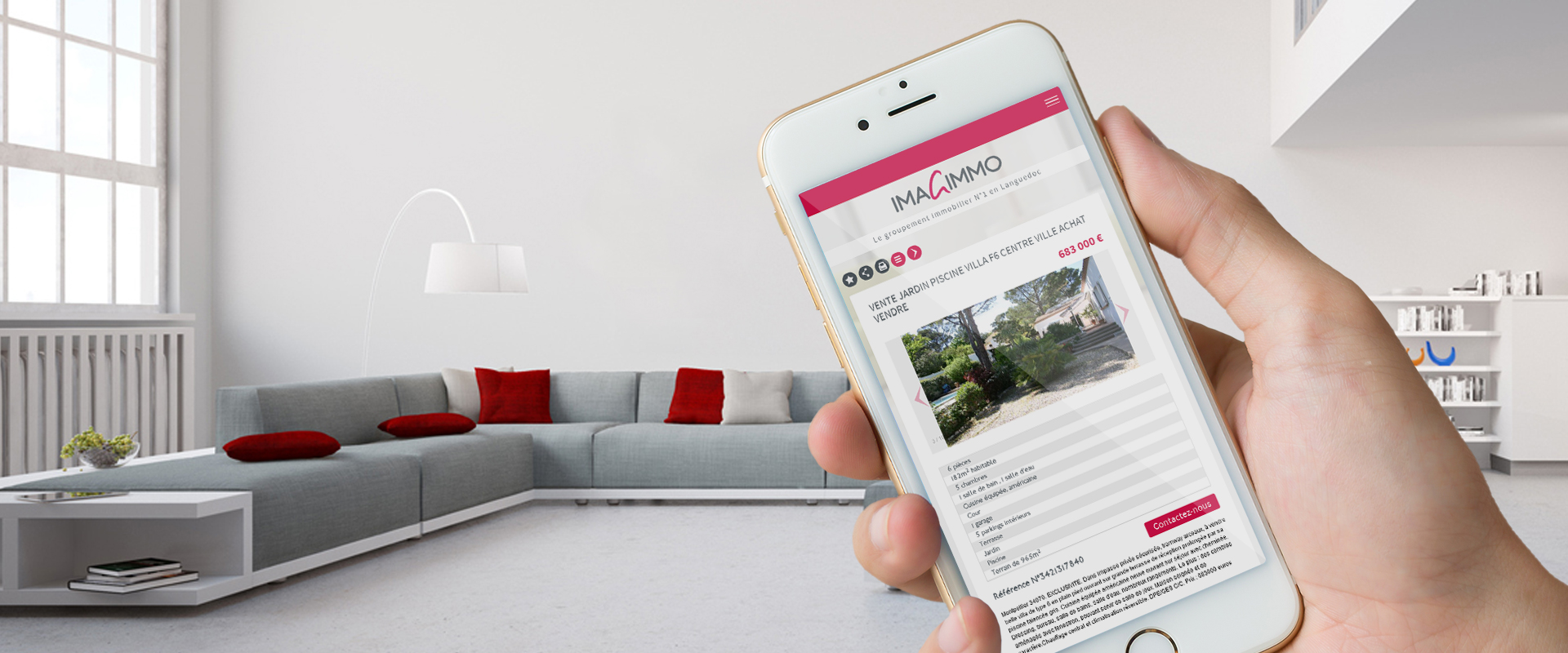Site immobilier compatible mobile