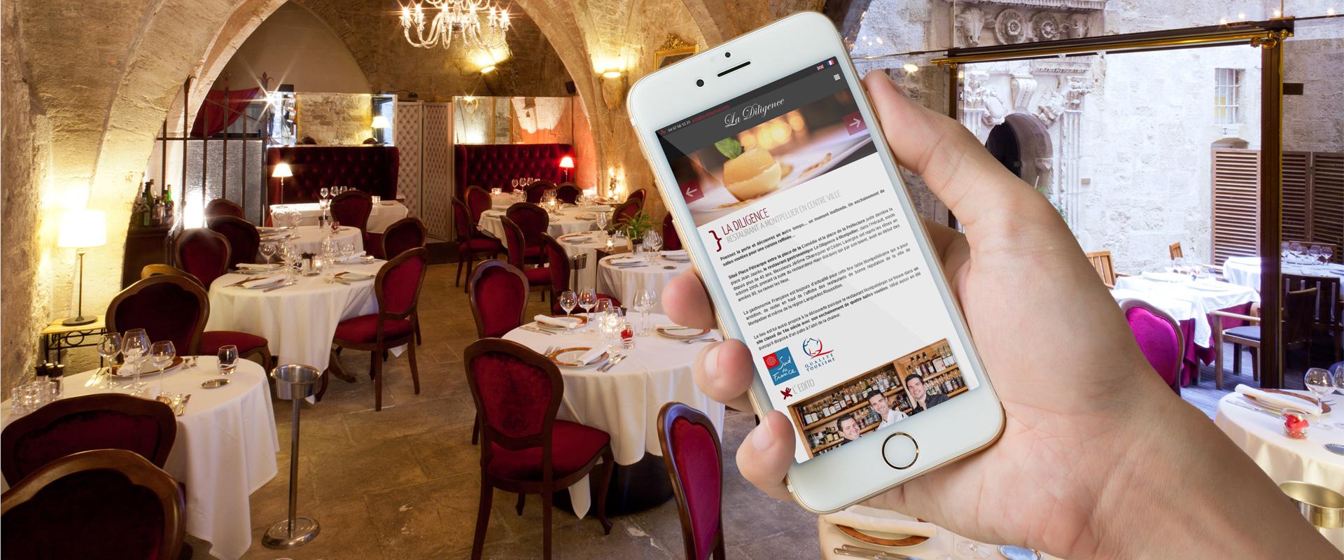 Site web responsive du restaurant La Diligence à Montpellier