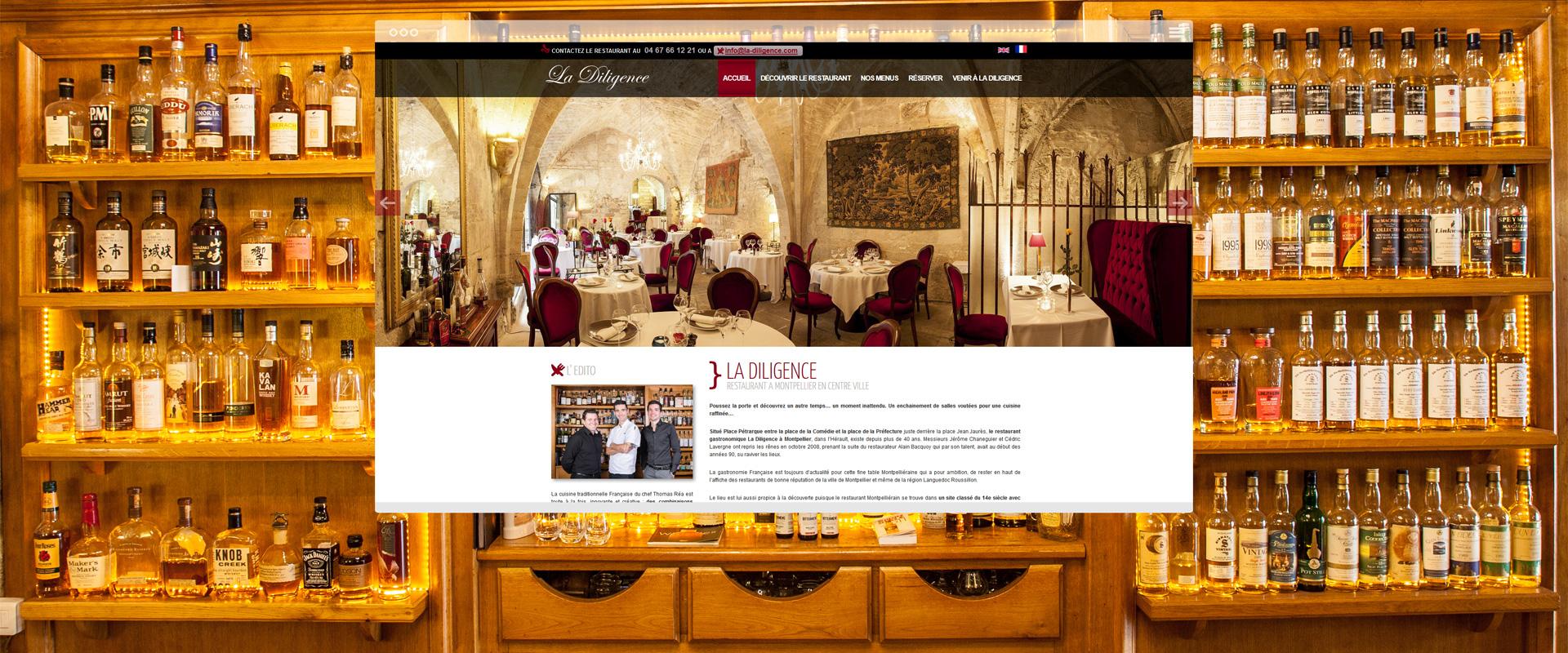 Page d'accueil site Drupal La Diligence