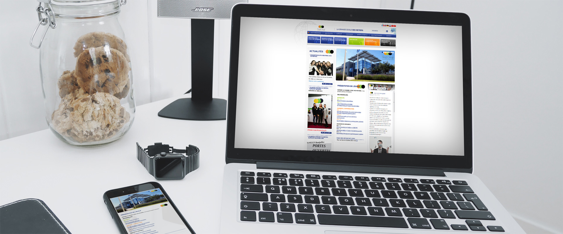 Site web responsive Ecole privée supérieure SupExup